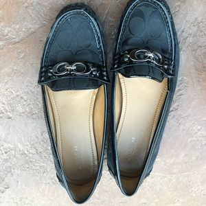 Black coach loafers
